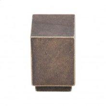 Linear Square Knob 3/4 Inch - German Bronze