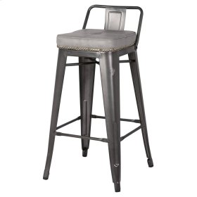 Metropolis Low Back Counter Stool, Vintage Mist Gray