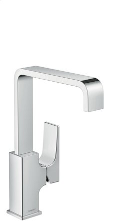 Chrome Single-Hole Faucet 230 with Lever Handle and Swivel Spout, 1.2 GPM