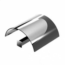 Toilet-paper holder with cover.