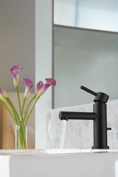 matte black faucet. Align Matte Black One-handle Bathroom Faucet