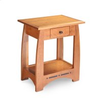 Aspen Nightstand Table with Drawer and Inlay Product Image