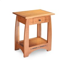 Aspen Nightstand Table with Drawer and Inlay