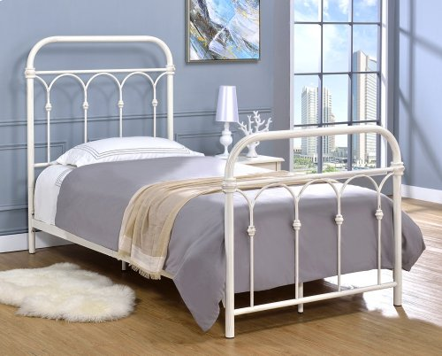 Hallwood Headboard - Twin, Antique White Finish