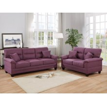 F6407 / Cat.19.p42- 2PCS SOFA SET WARM PURPLE