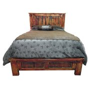 Red Rubbed Queen Bed Product Image