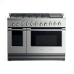 "Fisher & PaykelGas Range 48"", 6 Burners with Griddle"