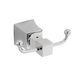 Uncoated Polished Brass - Living Double Robe Hook