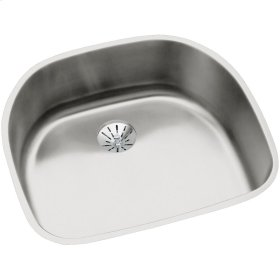 "Elkay Lustertone Classic Stainless Steel 23-5/8"" x 21-1/4"" x 7-1/2"", Single Bowl Undermount Sink with Perfect Drain"
