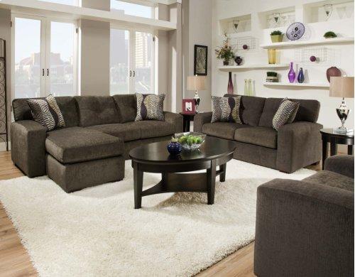 5100 - Hematite Gray Sofa Chaise