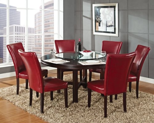 "Hartford Bonded Chair, Red 20"" x 28"" x 41"" (1""Memory Foam)"