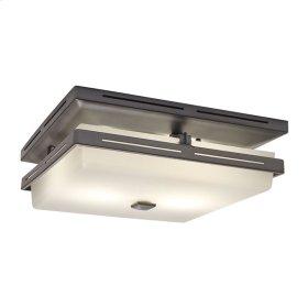 InVent Series Single-Speed 110 CFM, 1.5 Sones Decorative Fan Light in Polished Steel Finish