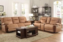 Doble Glider Reclining Love Seat with Center Console