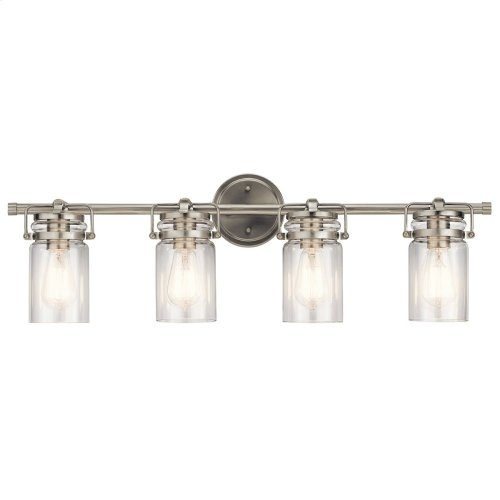 Brinley 4 Light Vanity Light Brushed Nickel
