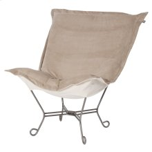 Scroll Puff Chair Bella Sand Titanium Frame
