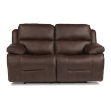 Apollo Leather Power Reclining Loveseat with Power Headrests
