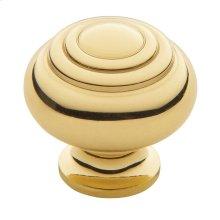 Polished Brass Ring Deco Knob