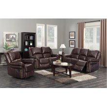 GL-U9521 Collection - 3 Piece Reclining Living Room Set Dual Reclining Sofa and Loveseat  Manual Reclining Chair