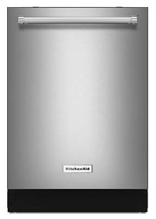 GIVE-AWAY PRICE!!! KITCHENAID PREMIUM BAR HANDLE DISHWASHER (RETURNED FOR FRONT CONTROL MODEL) _39 dBA Dishwasher with ProScrub Option - Stainless Steel - 6 MONTH FULL WARANTY