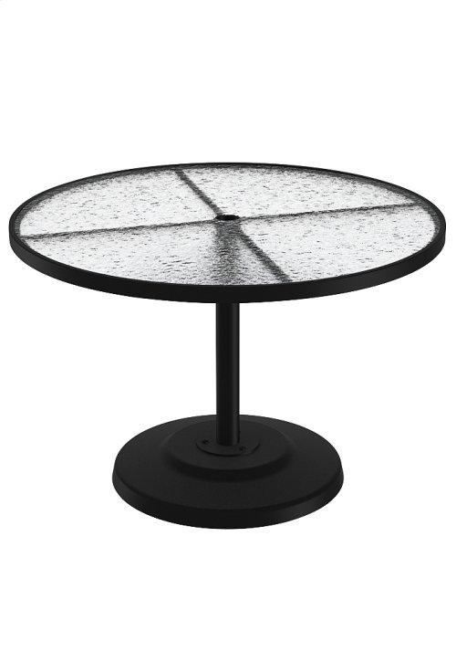 "Acrylic 42"" Round KD Pedestal Dining Umbrella Table"