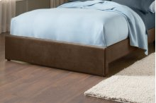 Fabric Universal Footboard - King/cal King - Chocolate