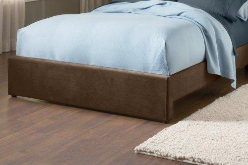 Fabric Universal Footboard - King/cal King - Chocolate