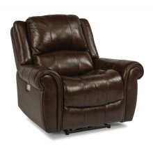Brazen Leather Power Recliner with Power Headrest