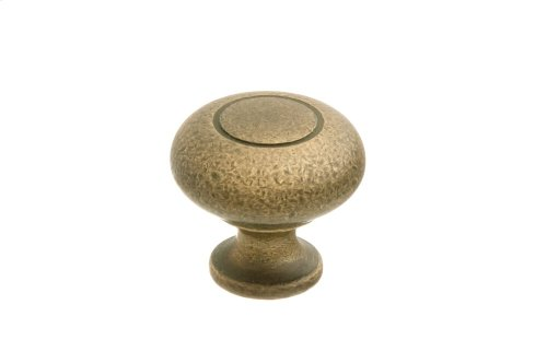 "1 1/4"" Knob - Distressed Antique Brass"