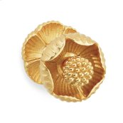 "Gold Plate Shell 2-1/2"" Door Knob"