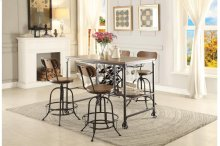 Counter Height Table with Wine Rack
