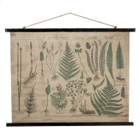 Botanical Rolled Antique Canvas Wall Decor. Product Image