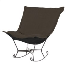 Scroll Puff Rocker Sterling Charcoal Titanium Frame