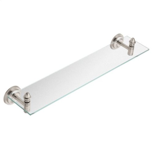 Stockton brushed nickel vanity shelf