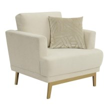 Margot Mid-century Modern Beige Chair