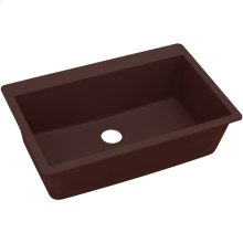 "Elkay Quartz Classic 33"" x 20-7/8"" x 9-7/16"", Single Bowl Drop-in Sink, Pecan"