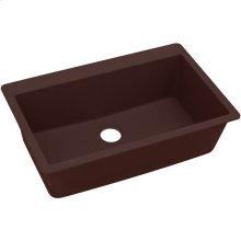 "Elkay Quartz Classic 33"" x 20-7/8"" x 9-7/16"", Single Bowl Drop-in Sink, Pecan"