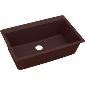 "Elkay Quartz Classic 33"" x 20-7/8"" x 9-7/16"", Single Bowl Top Mount Sink, Pecan"