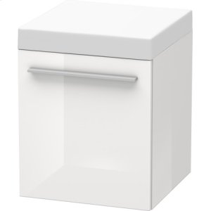 Mobile Storage Unit, White High Gloss Lacquer