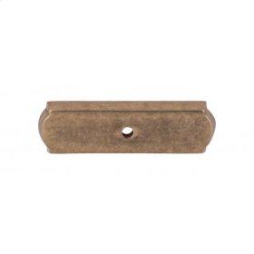 Aspen Rectangle Backplate 2 1/2 Inch - Light Bronze