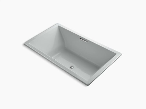 """Ice Grey 72"""" X 42"""" Drop-in Bubblemassage Air Bath With Bask Heated Surface and Center Drain"""