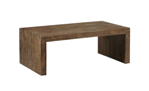 Emerald Home Pine Valley Cocktail Table-burnished Pine Finish T744-00