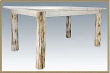 Montana Log 4 Post Dining Table with Leaves
