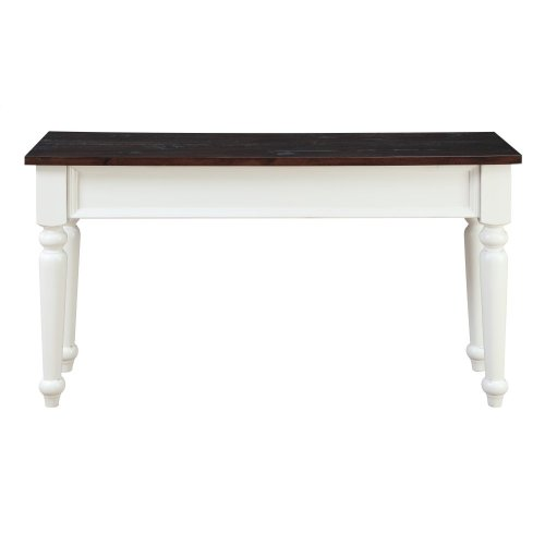 Emerald Home Mountain Retreat 2 Drawer Sofa Table Antique White Base W/brown Rustic Plank Top T6014-09