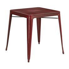 Bristow Antique Metal Table In Antique Red (kd)