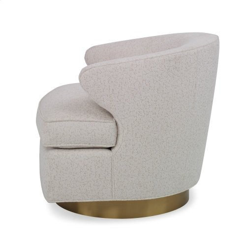 Scoop Swivel - Brass Base Chair