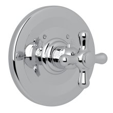Polished Chrome Verona Thermostatic Trim Plate Without Volume Control with Verona Series Only Cross Handle