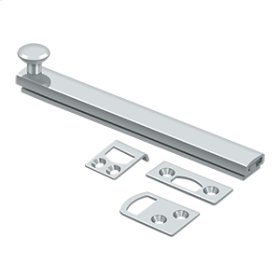 """6"""" Surface Bolt, Concealed Screw, HD - Polished Chrome"""