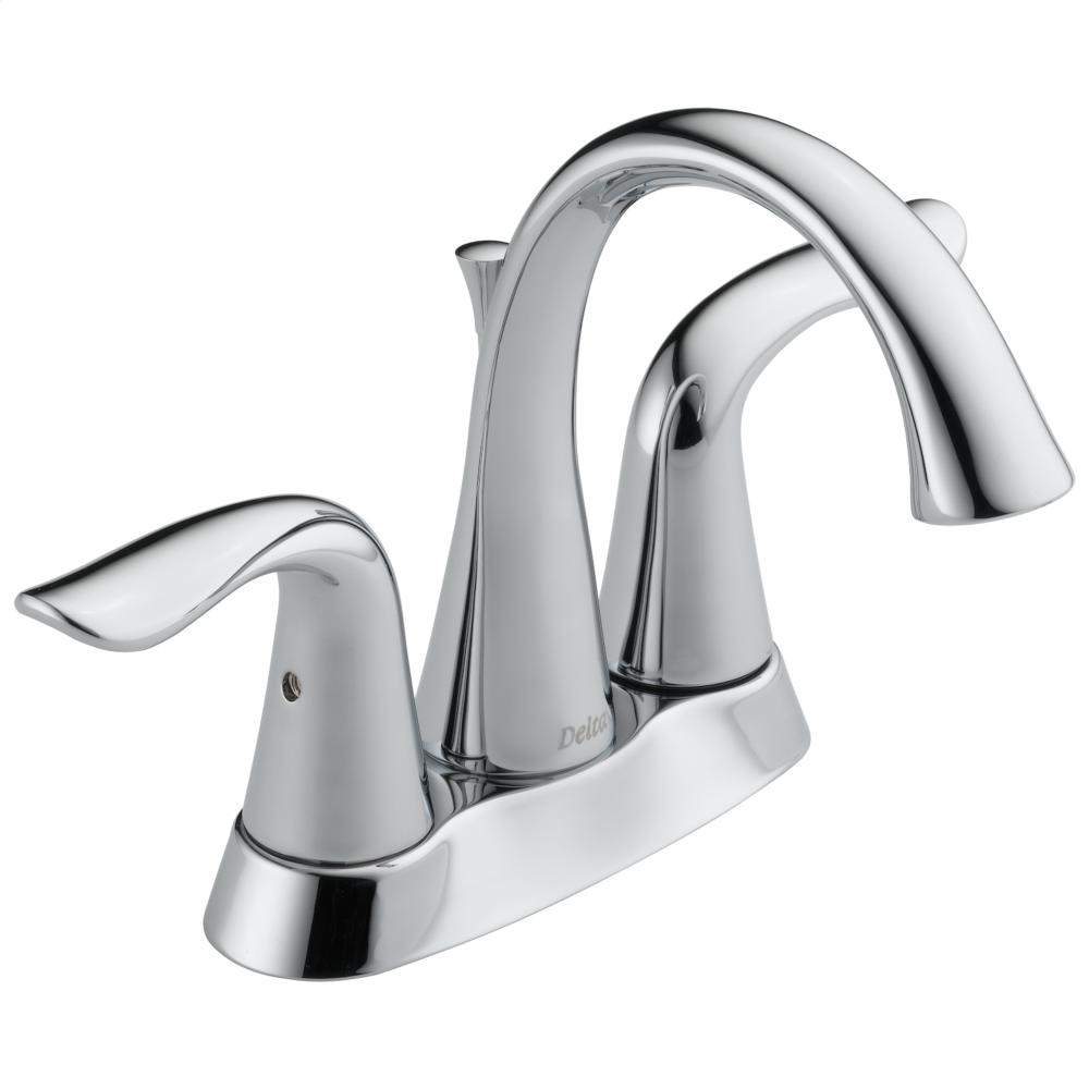 Chrome Two Handle Tract-Pack Centerset Bathroom Faucet