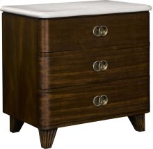 Ernest Hemingway ® Renee Night Stand with Stone Top