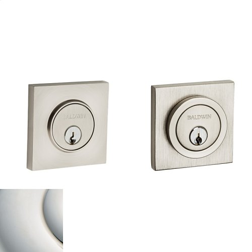 Polished Nickel with Lifetime Finish Contemporary Square Deadbolt
